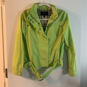 Burberry lime green jacket